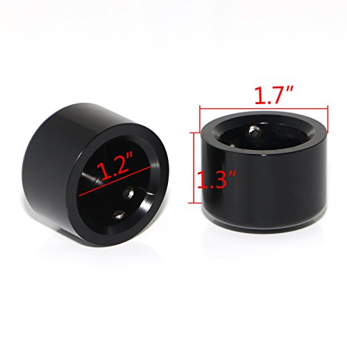 Senkauto Front Axle Cap Nut Cover For Harley Sportster Touring Dyna Touring Softail Electra Street Glide (Black 01) by Senkauto (Image #2)