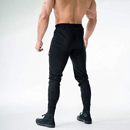 Panpany Allenamento Uomo Pieghe Aderenti Da Pantaloni Con Tether Sportivi Nero qrq17S