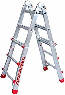 GLIFE EN131 - Extensión de aluminio telescópica de 3 x 4 pasos y plegable, multiusos, escalera multiposición, 300 libras para el hogar HMI475: Amazon.es: Bricolaje y herramientas