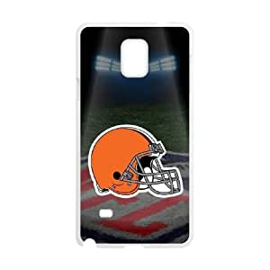 Samsung Galaxy Note 4 White Cell Phone Case Cleveland Browns NFL Generic Phone Case Cover For Boys NLYSJHA0677