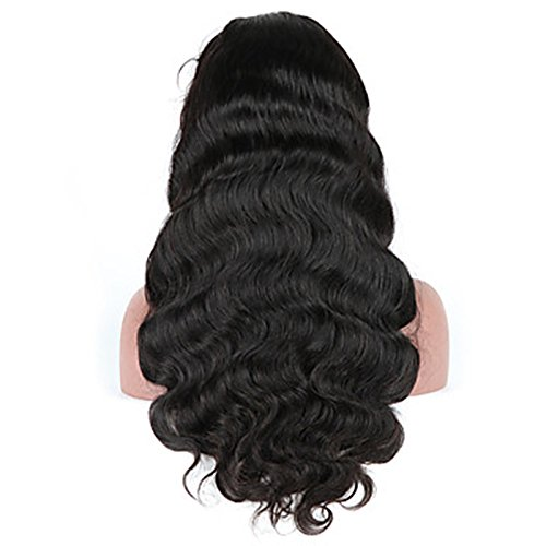 Body Wave Lace Front Human Hair Wigs-Glueless Brazilian Virgin Wigs with Baby Hair for Black Woman 130% Density 1b color (20 inch) by PFWIGS (Image #3)
