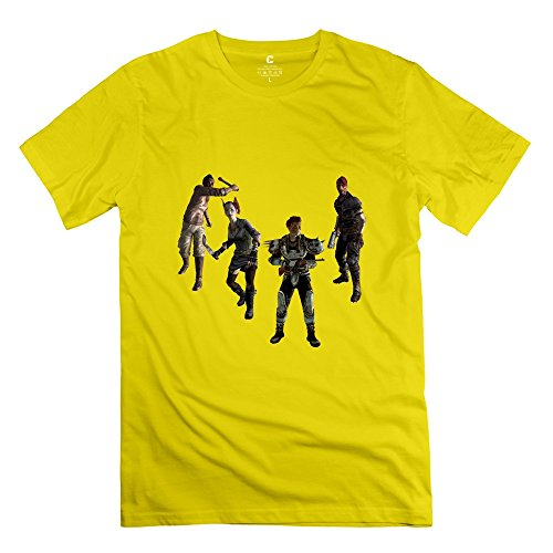 fallout-new-vegas-funny-short-sleeve-yellow-shirts-for-mens-size-xs