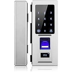 Security Biometric Fingerprint Door Lock for Glass Door, Free Punching,Supporting Double Open-Door and Single Open-door