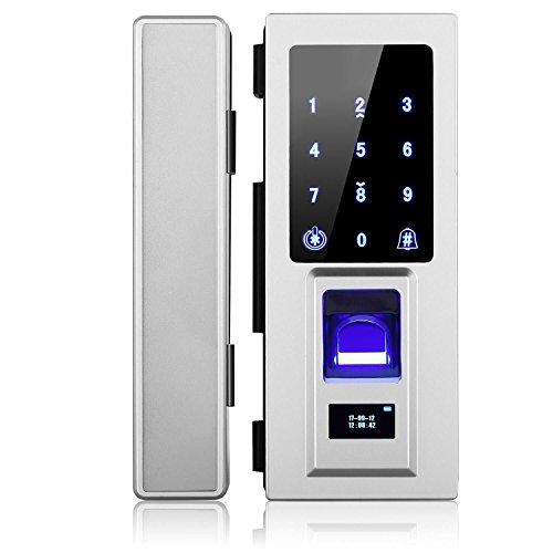 Security Biometric Fingerprint Door Lock for Glass Door, Free Punching,Supporting Double Open-Door and Single Open-door by Porlik (Image #8)