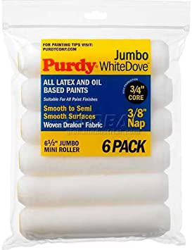 9 x 3//8 White Pack of 6 Purdy Dove Cover