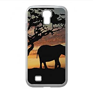 Savannah Elephants Watercolor style Cover Samsung Galaxy S4 I9500 Case (Wild Watercolor style Cover Samsung Galaxy S4 I9500 Case)