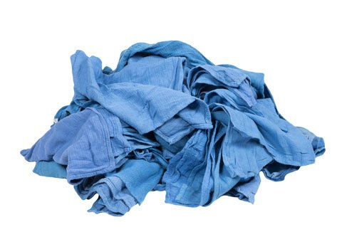 RagLady Wholesale Blue Surgical Towels - Recycled Rags - 40 Pounds in a Box by RagLady (Image #1)