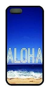 Beach Aloha Theme Iphone 5 5s Case TPU Material