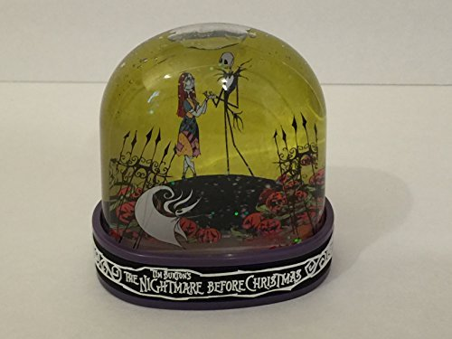DISNEY PARKS TIM BURTON'S NIGHTMARE BEFORE CHRISTMAS SNOW GLOBE JACK & SALLY by Disney