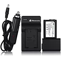 Powerextra 2 Pack Replacement Sony NP-FW50 Battery and Travel Charger For Sony Alpha a6500, a6300, a6000, a7s, a7, a7s ii, a7s, a5100, a5000, a7r, a7 ii Digital Camera