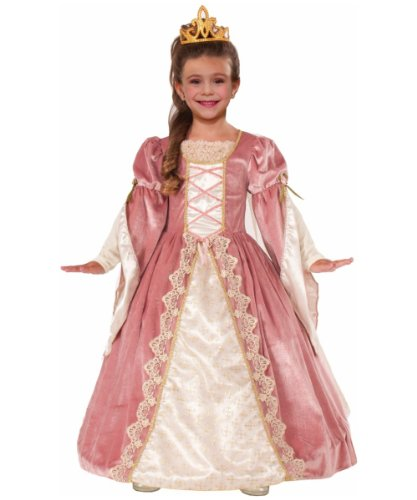 Forum Novelties Designer Collection Deluxe Victorian Rose Costume Dress, Child Small -
