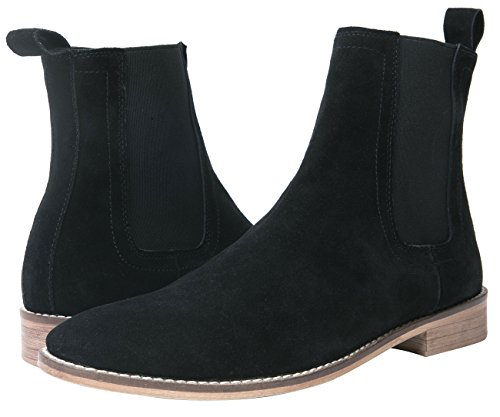 dcaaaf953 Amazon.com | SANTIMON Chelsea Boots Men Suede Casual Dress Boots Ankle  Boots Formal Shoes Black Brown Grey | Boots