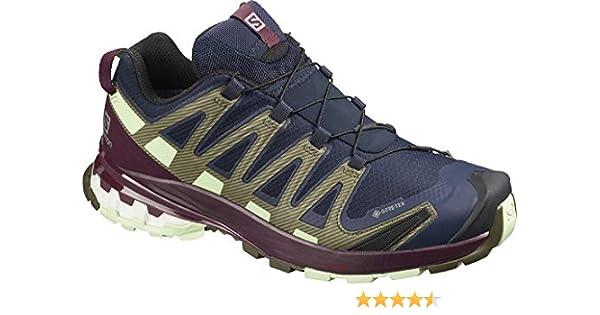 Salomon XA Pro 3D v8 GTX W, Zapatillas de Trail Running para Mujer, Azul Navy Blazer Wine Tasting Patina Green, 40 EU: Amazon.es: Zapatos y complementos