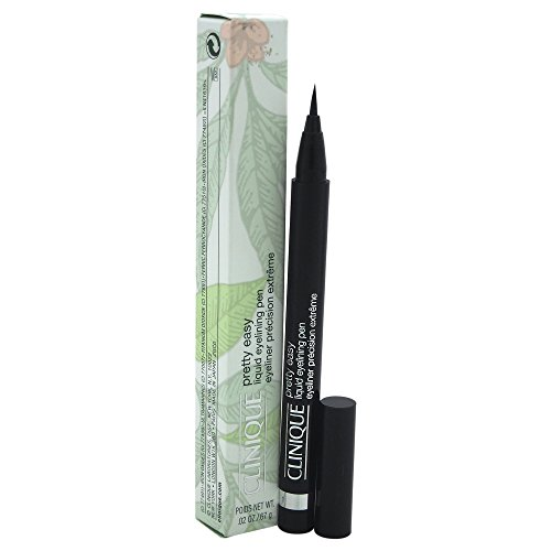 Clinique Pretty Easy Liquid Eye-Lining Pen, No. 1 Black for Women, 0.02 Ounce