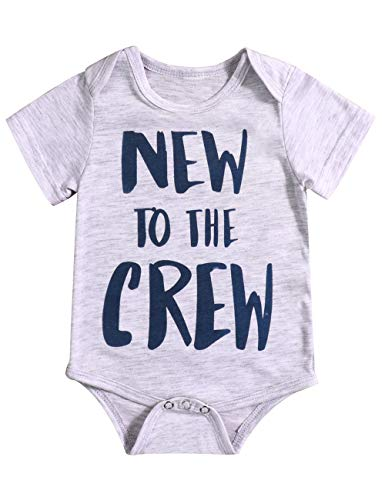 99ffa0b46 Jual DOAM Newborn Baby Boy Clothes New to The Crew Bodysuit Short ...