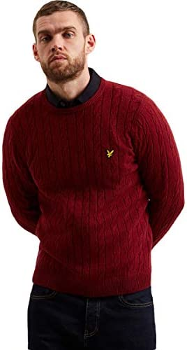 [해외]Lyle & Scott | Cable Jumper Red | LYS_MLSKN732V 477 / Lyle & Scott | Cable Jumper, Red | LYS_MLSKN732V 477 - XL