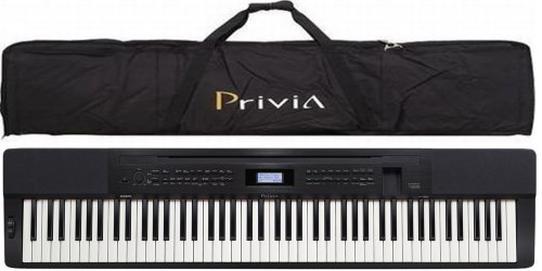 Casio PX350 Privia 88-Key Touch Sensitive Digital Piano in Black with Casio PRIVCASE Privia Case