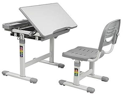 Mount-It! Children's Desk and Chair Set, Kids School Workstation, Height Adjustable