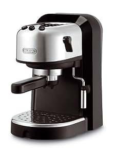 DeLonghi EC270 - Cafetera espresso, 1100 W, 1.3 litros de capacidad, 15 bares,  acero inoxidable