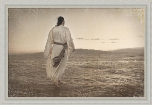 Walking On Water by Melanie Ewing Jesus Christ Christian Décor 20x14 Framed Art Print Picture