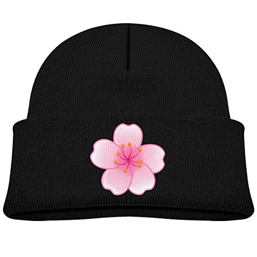 Baby Toddler Infant Winter Warm Hat Kids Cherry Blossom Petals Knit Beanies Cotton Cap