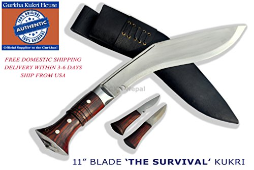 Authentic Gurkha Knife – 12 Blade World War II 'the Survival alive' Kukri Full Tang with Black Leather Sheath-Handmade by Gurkha Kukri House(GKH) in …