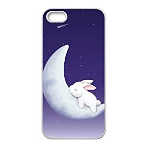 Custom Colorful Case for Iphone 5c,5c, Moon Bunny Cover Case - HL-R6875c33 Kimberly Kurzendoerfer
