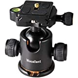 Wecellent Tripod Ball Head 360° Panoramic with Quick Release Plate Max. Load 17.6 Lbs/8KG