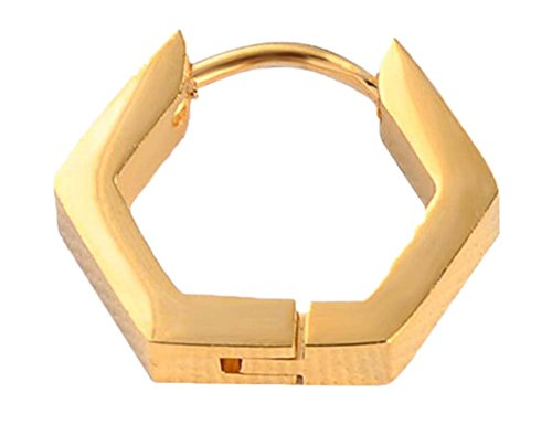 di Black color titanio color acciaio oro semplice Temptation Orecchino in design zwEwq