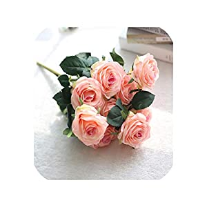 Barry-Home 1 Bunch French Artificial Silk Rose Floral Bouquet Fake Flower Arrange Table Daisy Wedding Flowers Decor Party Accessory Flores 22