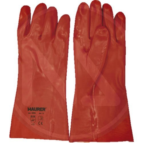 Maurer 15031095 Guante Pvc Rojo 35 cm.