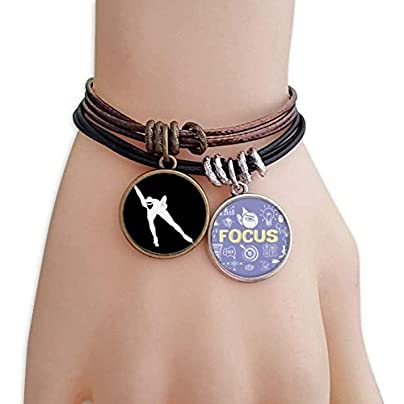 SeeParts Winter Skating Sport Black Silhouette Bracelet Rope Wristband Force Handcrafted Jewelry Estimated Price £9.99 -
