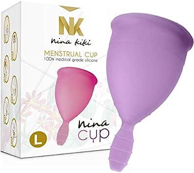 Nina Kikí Copa Menstrual, Talla L, Lila - 100 gr: Amazon.es ...