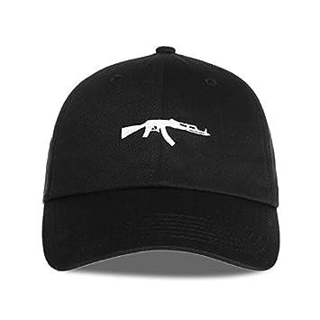 Llxln Lavado Popular Gorra De Béisbol Hombres Pistola Negro Bordado Hat  Para Las Mujeres Planas Hip-Hop Capsa  Amazon.es  Deportes y aire libre c376e283ae7