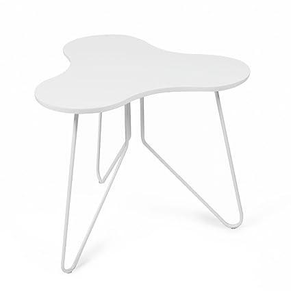 Amazon.com: Tuoni Talento Tavolino, Legno Laccato/Metallo Laccato ...