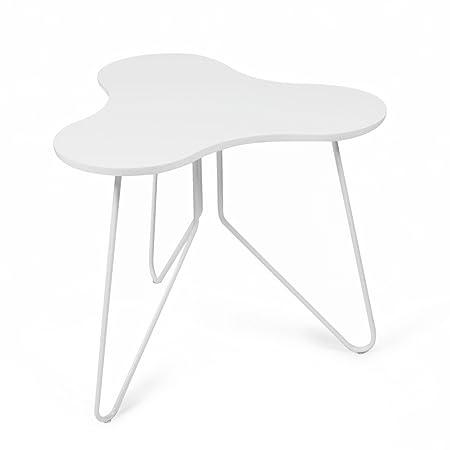 Tuoni Talento Tavolino, Legno Laccato/Metallo Laccato, Bianco, 58.3 ...