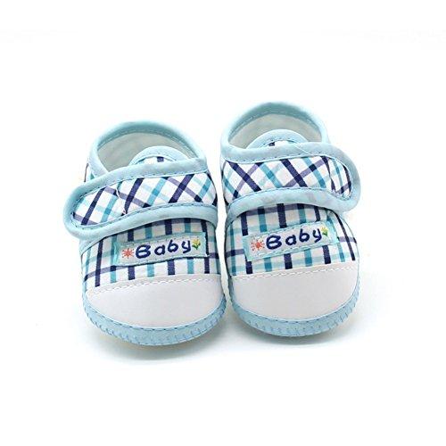 BOBORA Bebe Plaid Suave Inferior Antideslizante Zapatos De Nino A3