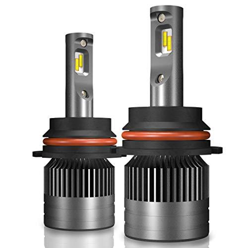 Mdatt 9003 HB1 LED Headlight Bulbs - 12000LM 6000K -Hi/Lo Beam, Spotlight Fog Light Bulb Conversion Kits Upgraded Double JPS Chips Silent Fan IP67 by Mdatt Tech