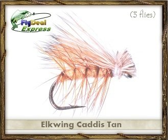 - Fly Fishing Flies - ELKWING CADDIS TAN - Dry Fly (3-pack)