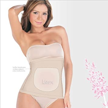 47f0bb020b2c9 Image Unavailable. Image not available for. Color  Shapewear Powernet with Latex  Waist Cincher.