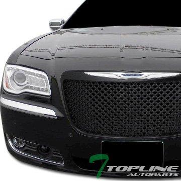 Topline Autopart Black Sport Mesh Front Hood Bumper Grill Grille Cover ABS 11-14 Chrysler 300 300C