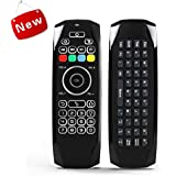 AuviPal G7 Backlit Universal Keyboard Remote Combo (5 Programmable Keys + QWERTY Keyboard + Air Mouse) for Nvidia Shield/Android Box/Smart TV/Raspberry Pi, HTPC and More