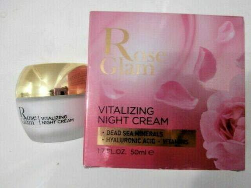 EDOM Rose Glam Vitalizing Night Cream w/Dead Sea Minerals Hyaluronic Acid 1.7 oz