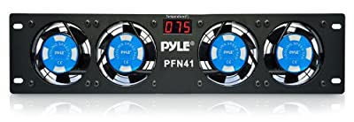 "Pyle-Pro PFN41 19"" Rack Mount Cooling Fan System W/Temperature Display from Sound Around"