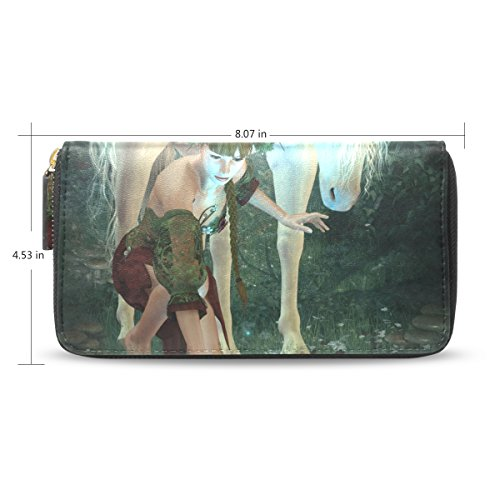 Clutch Unicorn Purse Long Credit Bennigiry And Girl Holder Lady A Wallet Card n7qqwgxAfa