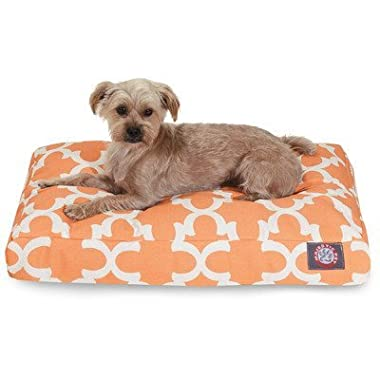 Gray Trellis Extra Large Rectangle Indoor Outdoor Pet Dog Bed With Removable Washable Cover By Majestic Pet Products