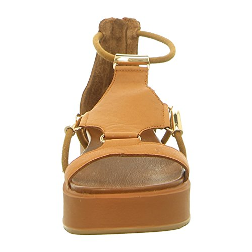 8729 Leather Inuovo Womens Gold Brown Sandals F7pfxdz