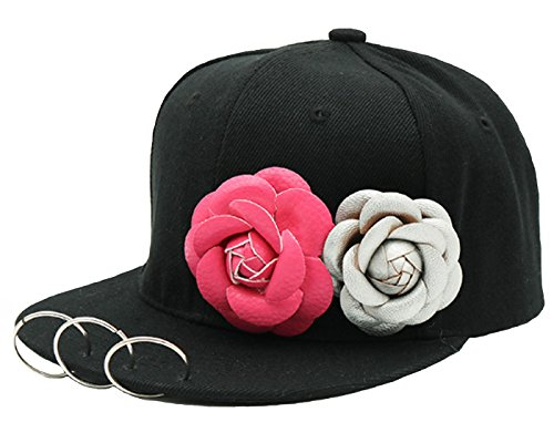 Fashion Personality Summer Hat Hoop Chain Flat Hat Dance Lovers Baseball Cap Hat - Medium Cap Hoop