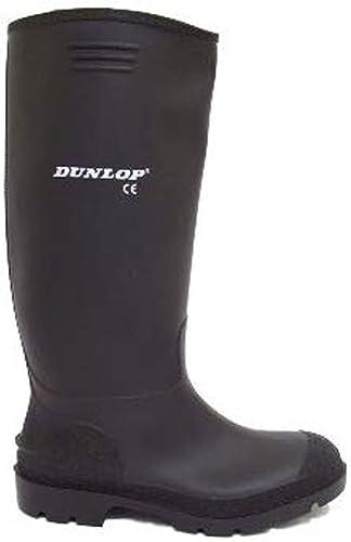 bottes Dunlop caoutchouc homme wellies noir en xoedCB
