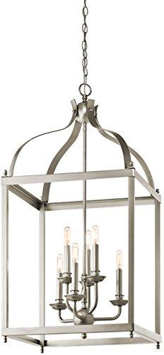 Kichler 42568NI Larkin Foyer Chandelier 6-Light, Brushed Nickel